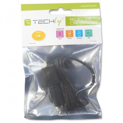 Micro-USB 1A Auto Adapter (12 / 24V) - Techly - IPW-CAR-MICRO1-1