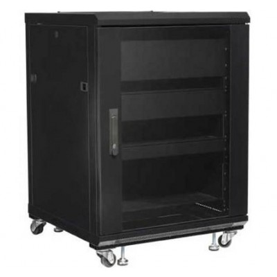 "Audio Video Rack Cabinet 19"" 15U 600x600 Black - Techly Professional - I-CASE AV-2115BKTY-1"