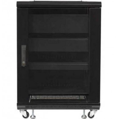 "Audio Video Rack Cabinet 19"" 15U 600x600 Black - Techly Professional - I-CASE AV-2115BKTY-3"