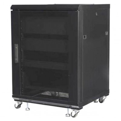 "Audio Video Rack Cabinet 19"" 15U 600x600 Black - Techly Professional - I-CASE AV-2115BKTY-2"