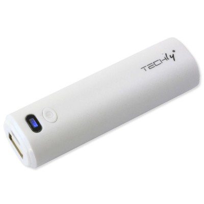 Emergency Battery Charger for Smartphone 2200 mAh USB White - Techly - I-CHARGE-2200TY-1