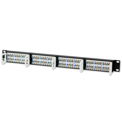 Patch Panel UTP 24 Ports RJ45 Cat.5E Techly - Techly Professional - I-PP 24-RU-C5ET-2