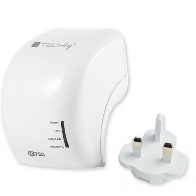 Mini WiFi Router 750Mbps Dual Band Repeater Repeater5 with UK plug - Techly - I-WL-REPEATER5/UK-2