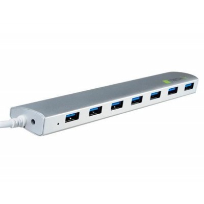 Hub USB 3.1 type C Gen1 SuperSpeed 7 Ports with Power Supply, Aluminum - Techly - IUSB31C-HUB7TLY-1
