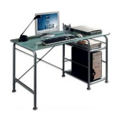 Office Desk for PC Metal & Satin Glass - Techly - ICA-TB 3349-1