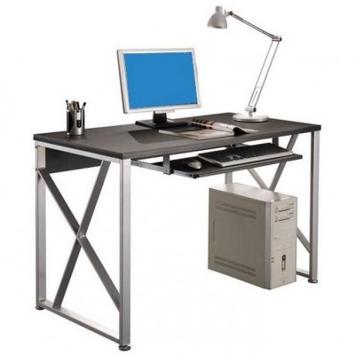 PC Desk with Pullout Drawer, Graphite Black - Techly - ICA-TB 349-1