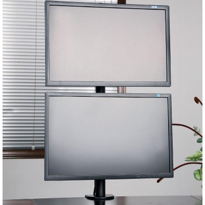 "Desk Stand for 2 Monitors 13-27"" with Clamp - Techly - ICA-LCD 350-D-4"