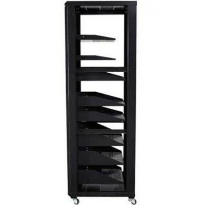 "Audio Video Rack Cabinet 19 ""36U 600x600 Black - Techly Professional - I-CASE AV-2136BKTY-8"