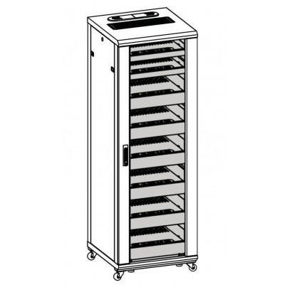 "Audio Video Rack Cabinet 19 ""36U 600x600 Black - Techly Professional - I-CASE AV-2136BKTY-4"