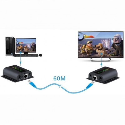 HDMI Extender with IR on Cat. 6 Cable up to 60m - Techly - IDATA EX-HL21D-4