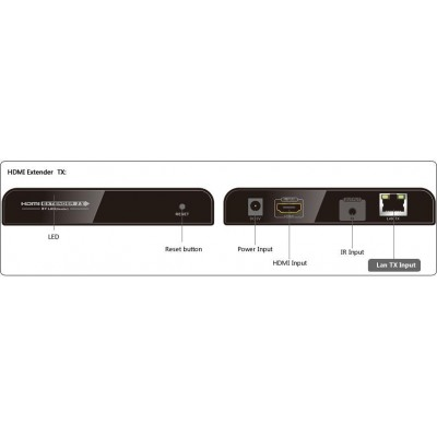 Amplifier / Splitter HDMI Over IP Network with IR Control - Techly - IDATA EXTIP-373IR-2