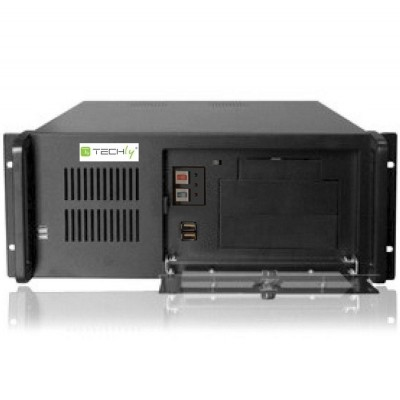 Industrial 4U Rackmount Computer Chassis 499mm - Techly - I-CASE MP-P4HX-BLK2-2