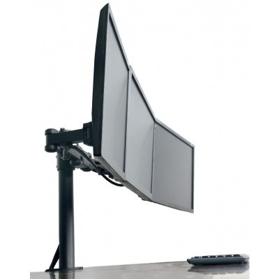 "13""-24"" Desk Stand for 3 Monitors with Clamp - Techly - ICA-LCD 482-T-2"