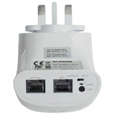 Mini WiFi Router 750Mbps Dual Band Repeater Repeater5 with UK plug - Techly - I-WL-REPEATER5/UK-4