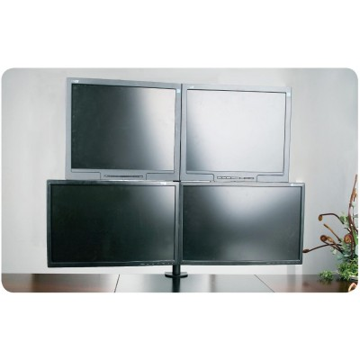 "13""-27"" Desk Stand for 4 Monitors  with Clamp - Techly - ICA-LCD 482-Q-2"