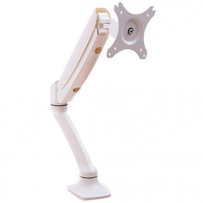 Desk Monitor Arm with Gas Spring for Monitor 10-27' White - Techly - ICA-LCD 512-WH-1