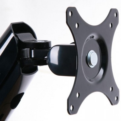Desk Monitor Arm with Gas Spring for Monitor 10-27 ' Black - Techly - ICA-LCD 512-BK-7