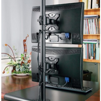 "Desk Stand for 2 Monitors 13-27"" with Clamp - Techly - ICA-LCD 350-D-6"
