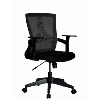 Office Chair with Middle Back Black - Techly - ICA-CT MC058BK-1