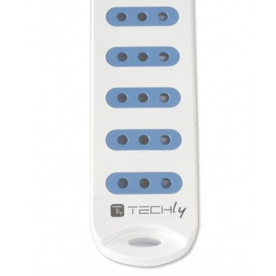 Power Strip 6 Italian 10A with Bright Switch, White - Techly - IUPS-PCP-610-2