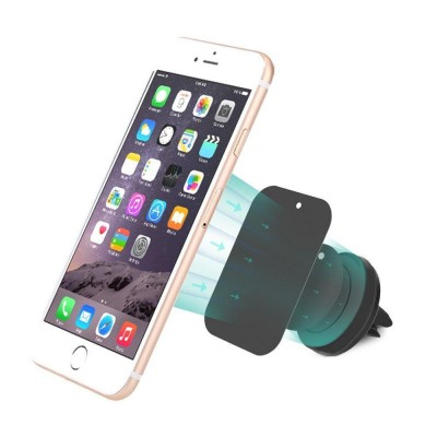 Car Universal Support with Magnets for Smartphone and Tablet Black - Techly - I-SMART-UNITY-3