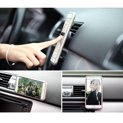 Car Universal Support with Magnets for Smartphone and Tablet Black - Techly - I-SMART-UNITY-11