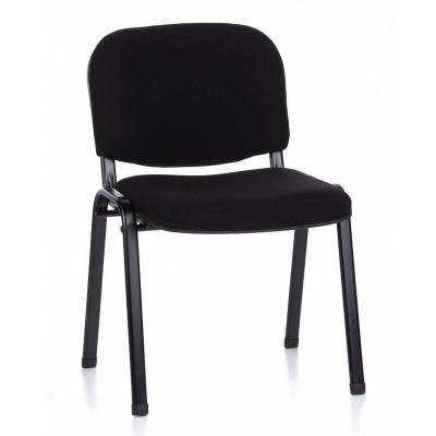 Conference Chair in Black Fabric - Techly - ICA-CT 050BLK-1