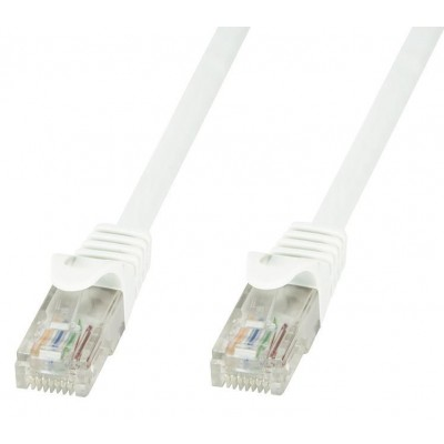Network Patch Cable Cat.6 in CCA UTP 0,5m White - Techly Professional - ICOC CCA6U-005-WHT-1
