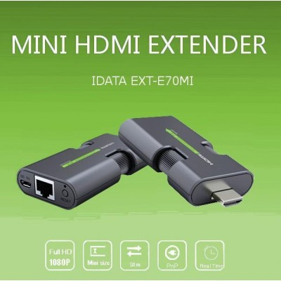 Extender HDMI Full HD 3D on cable Cat.5E / 6 / 6A / 7 max 50m Self Regulating - Techly - IDATA EXT-E70MI-1