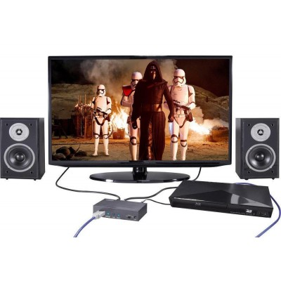 Audio Extractor 7.1 LPCM HDMI 4K UHD 3D - Techly - IDATA HDMI-EA74K-5