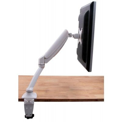 Desk Monitor Arm with Gas Spring for Monitor 10-27' White - Techly - ICA-LCD 512-WH-7