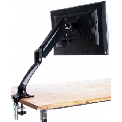 Desk Monitor Arm with Gas Spring for Monitor 10-27 ' Black - Techly - ICA-LCD 512-BK-6