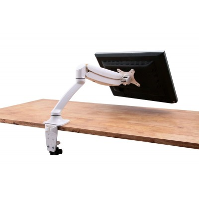 Desk Monitor Arm with Gas Spring for Monitor 10-27' White - Techly - ICA-LCD 512-WH-5
