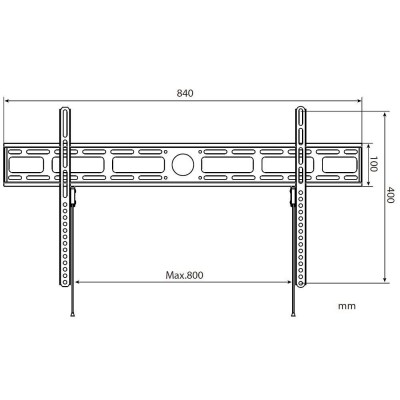"""Wall Mount for LED LCD TV 42-80"""" Ultra Slim Fixed H400mm - Techly - ICA-PLB 840-2"""