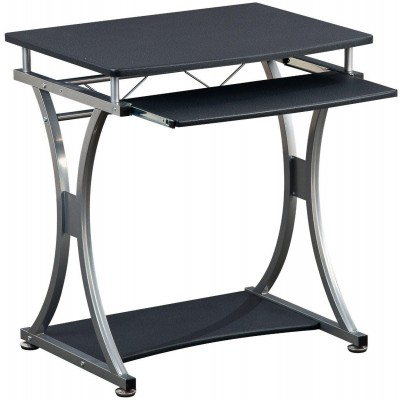 Compact Desk for PC with Removable Tray, Black Graphite - Techly - ICA-TB 328BK-2