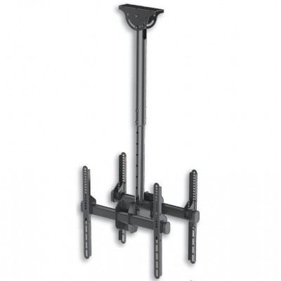"""Telescopic Universal Ceiling Support for 2 TV LED LCD 32-55"""" - Techly - ICA-CPLB 944D-1"""