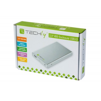 "USB3.0 to SATA6G 2.5"" HDD/SSD Enclosure - Techly - I-CASE SU3-25S-1"