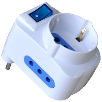 Adapter with 10A Plug - Techly - IPW-TRP-310W-1