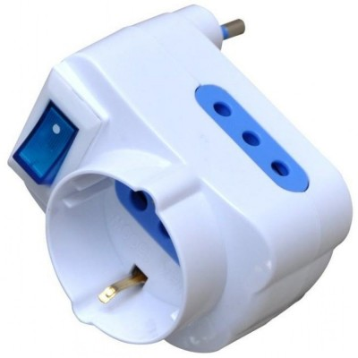 Adapter with 10A Plug - Techly - IPW-TRP-310W-2