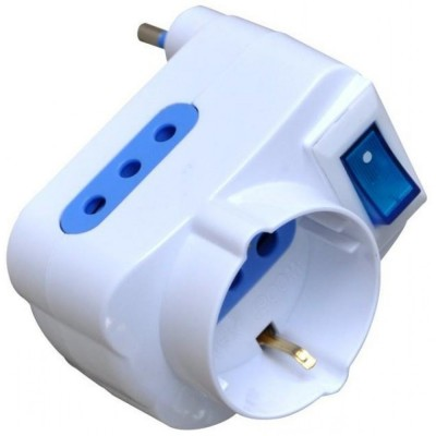 Adapter with 10A Plug - Techly - IPW-TRP-310W-3
