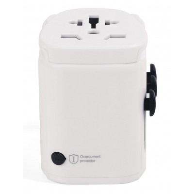 Travel Adapter 2 USB ports 2,4A White - Techly - I-TRAVEL-06TYWH-4
