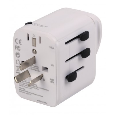 Travel Adapter 3 Port USB-A + 1 USB-C™ White - Techly - I-TRAVEL-07TYWH-5