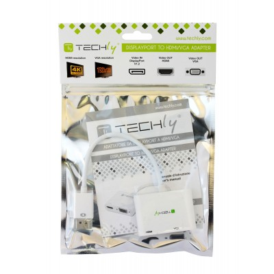 DisplayPort to HDMI/VGA Adapter - Techly - ICOC DSP-VH12-2