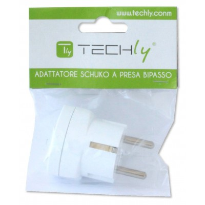 One way adaptor Schuko plug to italian socket - Techly - IPW-IC216-2