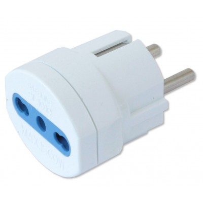 One way adaptor Schuko plug to italian socket - Techly - IPW-IC216-1