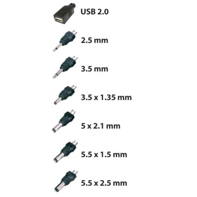 Adjustable Power Supply 600 mAh AC / DC Stabilized 7 Adapters - Techly - IPW-NTS600G-2