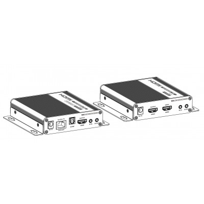 Extender Amplifier 4K HDMI up to 70m on Cat.6 / 6A / 7 Cable - Techly - IDATA EXT-676-3