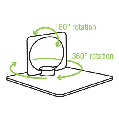 Smart ring and stand for Smartphone - Techly - I-SMART-RINGB-7