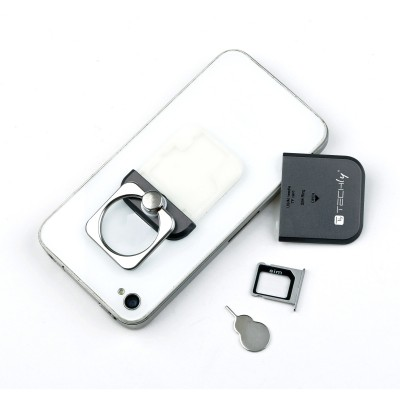 Smart ring and stand for Smartphone - Techly - I-SMART-RINGB-8
