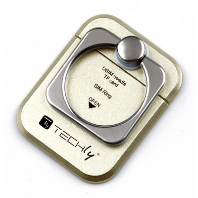 Smart ring and stand for Smartphone - Techly - I-SMART-RINGG-12